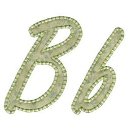 Lovely Applique Alphabet b