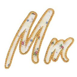 Lovely Applique Alphabet m