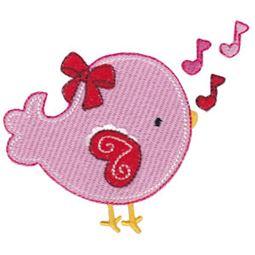 Filled Stitch Love Bird