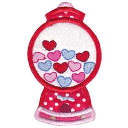 Applique Heart Gumball Machine
