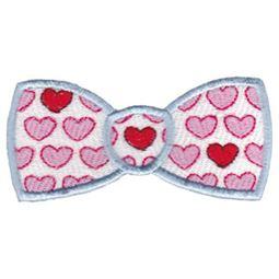 Filled Stitch Heart Bowtie