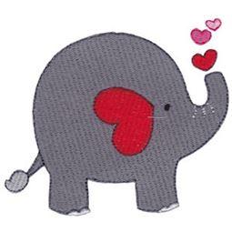 Filled Stitch Heart Elephant