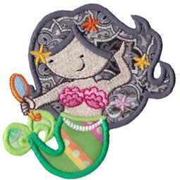 Magical Mermaids Applique 7