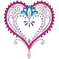 Mehndi Hearts 14 5x7 6x10