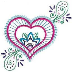 Mehndi Hearts 8 5x7 6x10