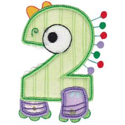 Monster Mash Numbers Applique 2
