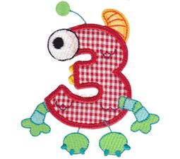 Monster Mash Numbers Applique 3