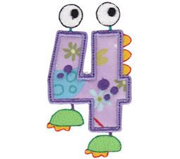 Monster Mash Numbers Applique 4