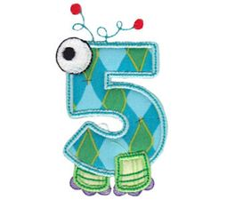 Monster Mash Numbers Applique 5