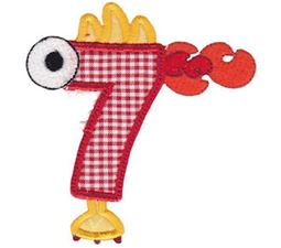 Monster Mash Numbers Applique 7