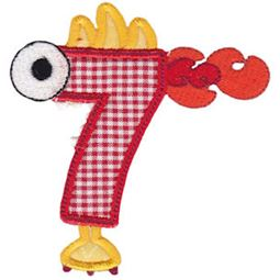 Monster Mash Numbers Applique 7