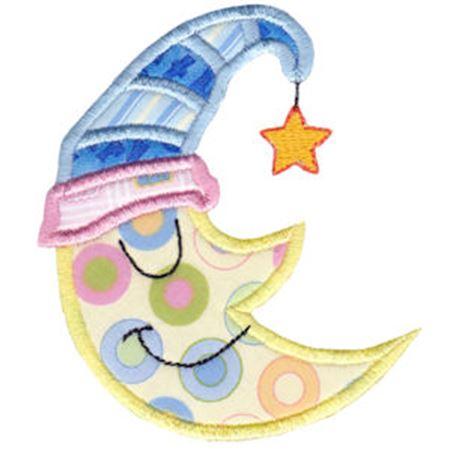 Sleeping Moon Applique