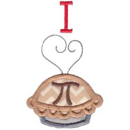 Applique I Love Pi