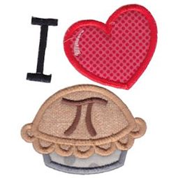 Applique I Heart Pi
