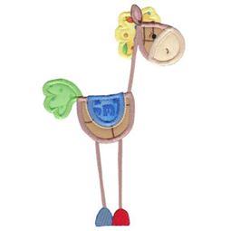 Patchy Horse Applique 5x7 1