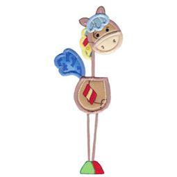 Patchy Horse Applique 5x7 3