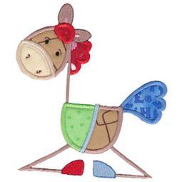 Patchy Horse Applique 5x7 4