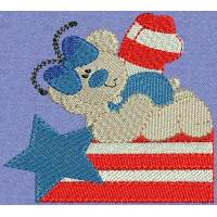 Patriotic Butterfly Bears