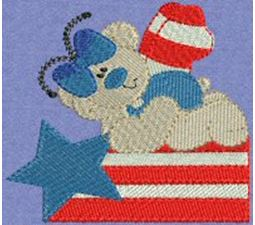 Patriotic Butterfly Bears 1