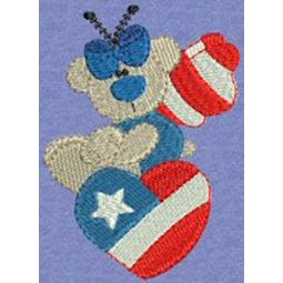Patriotic Butterfly Bears 4