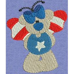Patriotic Butterfly Bears 5