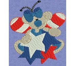 Patriotic Butterfly Bears 7