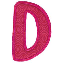Patty Cake Alpha Applique Capital D