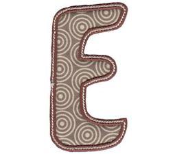 Patty Cake Alpha Applique Capital E