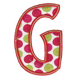 Patty Cake Alpha Applique Capital G