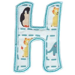 Patty Cake Alpha Applique Capital H