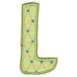 Patty Cake Alpha Applique Capital L