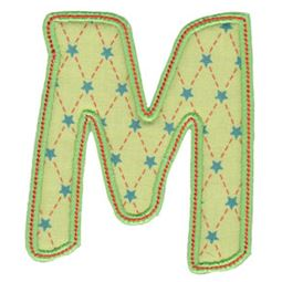 Patty Cake Alpha Applique Capital M