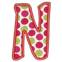 Patty Cake Alpha Applique Capital N