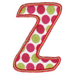 Patty Cake Alpha Applique Capital Z