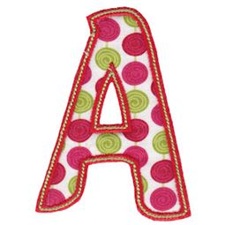 Patty Cake Alpha Applique Capital A