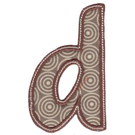 Patty Cake Alpha Applique Lower Case d