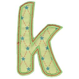 Patty Cake Alpha Applique Lower Case k