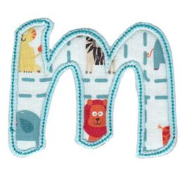 Patty Cake Alpha Applique Lower Case m