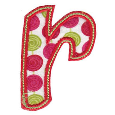 Patty Cake Alpha Applique Lower Case r