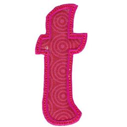 Patty Cake Alpha Applique Lower Case t