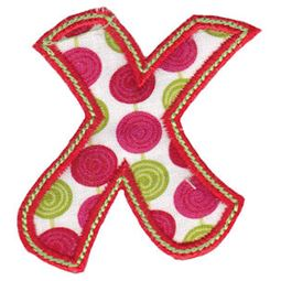 Patty Cake Alpha Applique Lower Case x