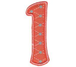 Patty Cake Alpha Applique Number 1