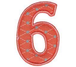 Patty Cake Alpha Applique Number 6