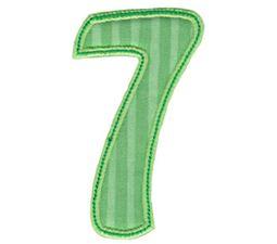 Patty Cake Alpha Applique Number 7