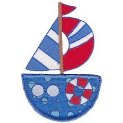 Nautical Sailboat Pocket