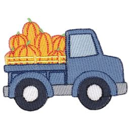 Truck Filled With Pumpkins