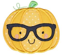 Hipster Pumpkin Applique