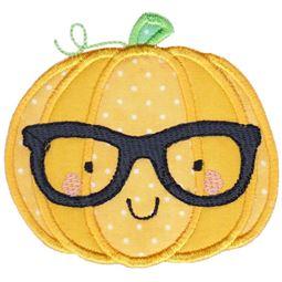 Hipster Pumpkin Applique
