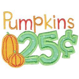 Pumpkins 25c Applique