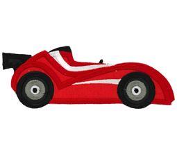 Race Cars Applique 5 5x7